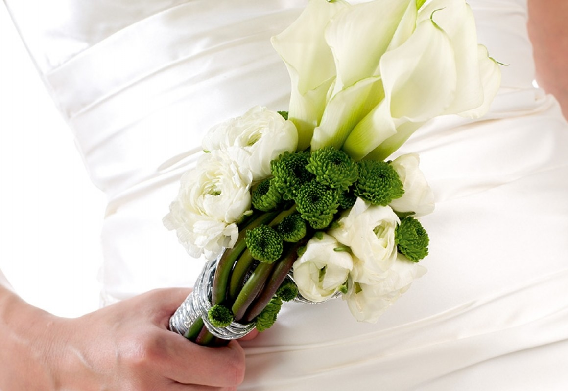 Chrystal blush wedding bouquet holder - OASIS® Floral Products