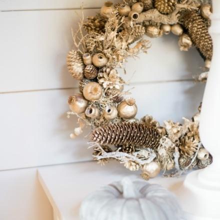 Golden Christmas Wreath