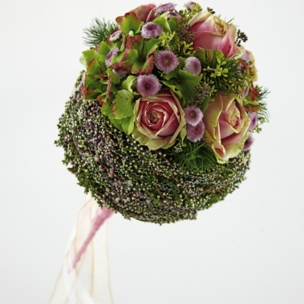 cuffed wedding bouquet
