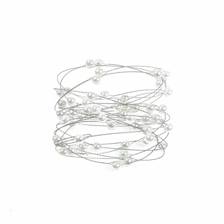 Decorative pearls on wire: Ø 8 mm