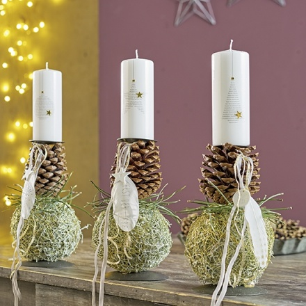 candleholders with cones